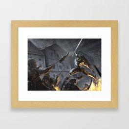 Swords Storm Framed Art Print