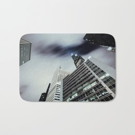 Cityscape I - Contemporary Skyscrapers Minimal Modern Studio Office Art Print Chicago Bath Mat