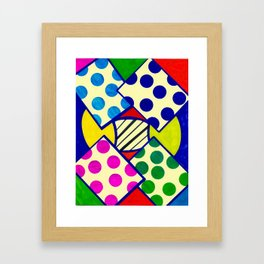 April Abstracted 2 - Dots Framed Art Print