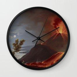 MOUNT VESUVIUS Eruption 1839 Naples Italia Wall Clock