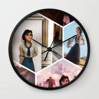 bioshock Wall Clocks featuring Elizabeth Bioshock  by Yizhen Dong