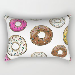 Funfetti Donuts - White Rectangular Pillow