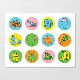 Lunch Time Menu Canvas Print