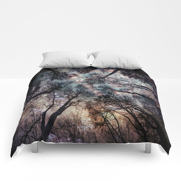 Starry Sky in the Forest Comforters