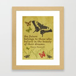 "Eleanor Roosevelt Quote, ""The future..."" Framed Art Print"
