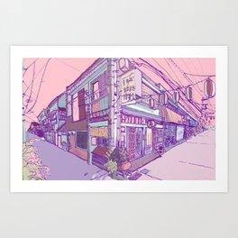 Japanese Houses Aesthetic Street Tokyo Japan Art Print