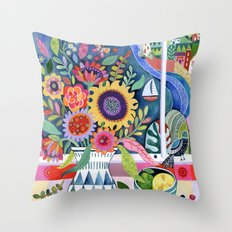 Bouquet by the Bay Throw Pillow