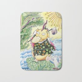 Psyduck, The Fool Tarot Card Bath Mat