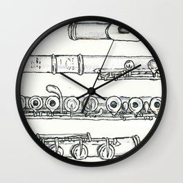 Flöte Wall Clock