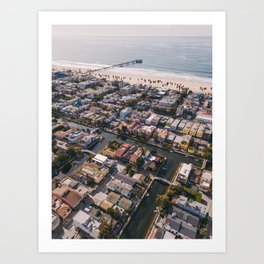 From Above | Venice Canals, Caifornia Art Print