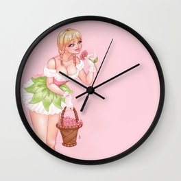May's Girl Wall Clock
