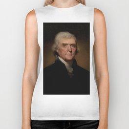 portrait of Thomas Jefferson by Rembrandt Peale Biker Tank
