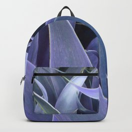 Abstract Leaves Periwinkle Teal Backpack