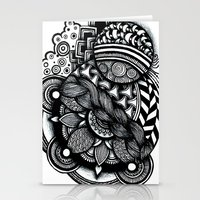 zentangle Stationery Cards featuring zentangle by goyye