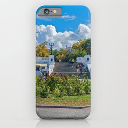 Crimea Russia Sevastopol Cafe Stairs Fence Cities Building stairway staircase Houses iPhone Case