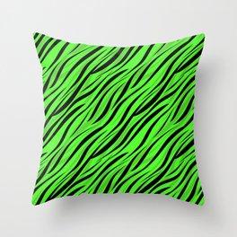 Abstract Black green textile Throw Pillow