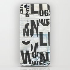 type mess iPhone & iPod Skin
