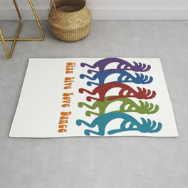 Sing, Live, Love Dance Tribal Kokopelli Rug