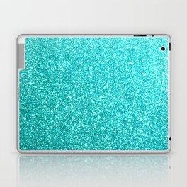 Aqua Blue Glitter Laptop & iPad Skin