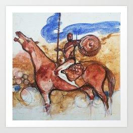 Cavaliere errante Art Print