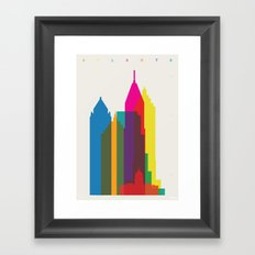 Shapes of Atlanta. Accurate to scale Framed Art Print