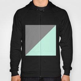 Grey and Mint Half Triangle Hoody
