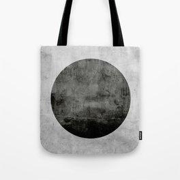 Concrete with black circle Tote Bag