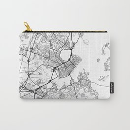 Portland ME Map White Carry-All Pouch