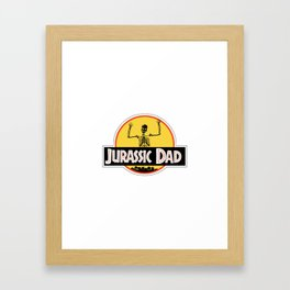 Jurassic Dad Dinosaur Skeleton Funny Birthday Gift 2 Framed Art Print