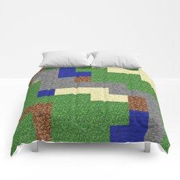 Pixel Craft Pattern Comforters