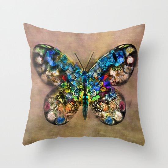 Butterflied Throw Pillow