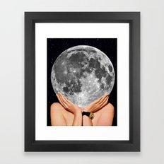 La luna - moon art Framed Art Print