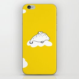 Flying Manatee by Amanda Jones iPhone Skin