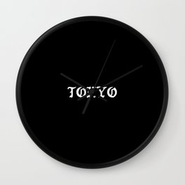Typographic Tokyo Japanese Hand Lettering Wall Clock