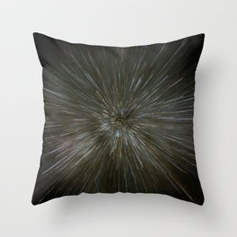 zooming towards stars Throw Pillow