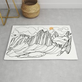 Snowpatch and the Col :: Bugaboos Rug