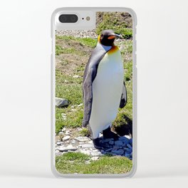 King Penguin Clear iPhone Case