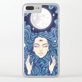 Trippy Chicks Clear iPhone Case