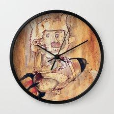 Bunny Rocket Wall Clock