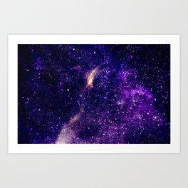 Ultra violet purple abstract galaxy Art Print