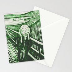 The Scream's Haze (green) Stationery Cards