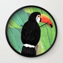 Toucan in the jungle Wall Clock