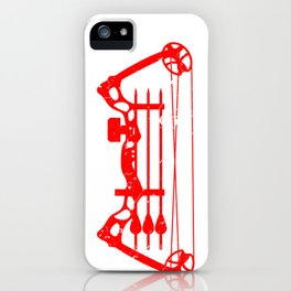 Hunting Gift American Flag Bowhunter iPhone Case