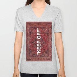 """""""keep off"""" antique persian rug Unisex V-Neck"""