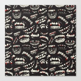 Monster Mouths Canvas Print