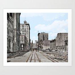 San Francisco Devastation c.1906 - Colourised Art Print