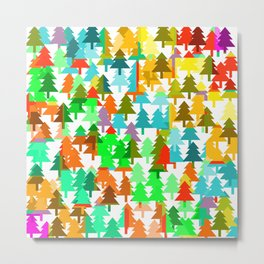 Colorful fir pattern Metal Print