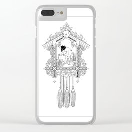 "Cuckoo clock, ""I have gone cuckoo."" Clear iPhone Case"