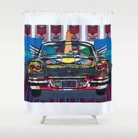 drive Shower Curtains featuring Drive by creative kids