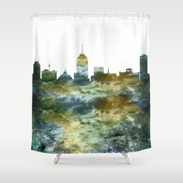 Fresno Skyline California Shower Curtain